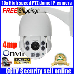Wholesale Mini Pan Tilt Zoom Camera - 4MP IP Camera Security 1944P 1080P Mini PTZ Outdoor 360 degree Pan Tilt Speed Dome 10x zoom IP network video surveillance Camera
