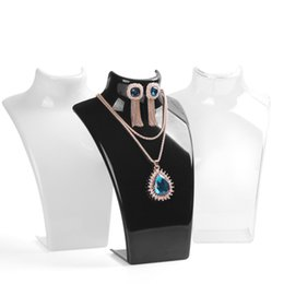 Wholesale Retail Mannequins - 2017 New and Hot sale Black color 20*13.5cm Mannequin Necklace Jewelry Pendant Display Stand Holder Show Decorate Retail