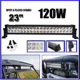 """Wholesale 24 Trailer - 22 24 inch LED Light Bar 120W Combo Work Light for Car Truck Trailer Boat Jeep Ford Offroad SUV Fog Roof Driving Lamp 4WD 4x4 10-30V 22"""" 24"""""""