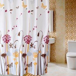 Wholesale Beautiful Curtains Wholesale - Wholesale- New Beautiful Dandelion Bathroom Shower Curtain 180x180cm Bath Curtain Waterproof Polyester Bathroom Curtains cortina de bano