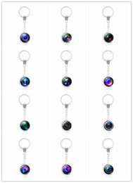 Wholesale Cabochon Ring Shapes - Mix 20pcs New Style Silver Plated Keychain Jewelry with Rotate Camera Shaped Glass Cabochon Plush Car Key Chain Ring for Unisex Gift