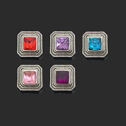 Wholesale Black Metal Earrings - Hot sale Interchangeable Flower 028 Rhinestones Metal Snap Buttons Fit 12mm Snap button bracelets Earrings necklace For women