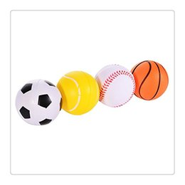 Wholesale Golf Balls Retail - Fidget Sprots Balls Mini Soft PU Sports Balls Stress Noverty Toy Balls Basketball Football Tennis Golf For Kids Fun Toys Free Shipping