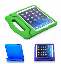 Wholesale Mini Ipad Case For Kids - Portable Kids Safe Foam Shock Proof EVA Case Handle Cover Stand for iPad mini 1234 2 3 4 Air 5 6 Pro free shipping