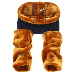 Wholesale Korean Clothes Sizing For Kids - winter girls pants 2016 children clothing snow pants for kids korean kids clothes big size trousers thick 330-350g 12 years old