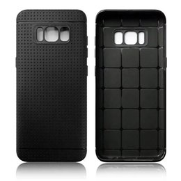 Wholesale Phone Cases Prices - Fashion Colorful Soft TPU Case For Samsung Galaxy S8   S8 Plus Mesh Dot Rubber Leather PU Cell Phone Skin Cover Low Factory Price