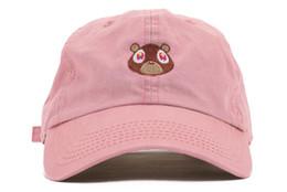 Wholesale Weird Hats - Kanye West bear cap Graduation College Dropout Bear Dad Hat Cap Never not weird Baseball Cap Hip Hop Summer Snapback men women hat