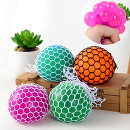 Wholesale Funny Stress - Anti Stress Mesh Face Reliever Grape Ball Autism Mood Squeeze Relief Healthy Toy Funny Gadget Vent Decompression toys Gifts
