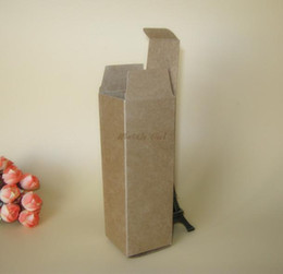 Wholesale Personal Crafts - 100pcs lot--2.7*2.7*8.2cm Blank Black kraft Paper Box DIY Lipstick Perfume Essential Oil Bottle Storage Boxe valve tubes