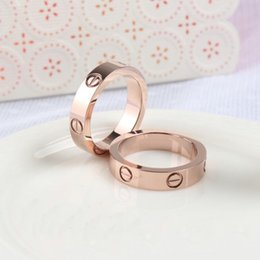 Wholesale Tibet Jewelry For Sale - Carter Brand 316L Titanium steel nails rings lovers Band Rings Size for Women and Men in 4mm and 6mm width brand jewelry Hot Sale PS5401