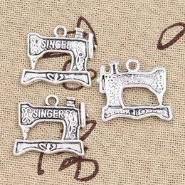 Wholesale Sewing Machine Silver Charms - Wholesale-20pcs Charms sewing machine 20*17mm Antique pendant fit,Vintage Tibetan Silver,DIY for bracelet necklace