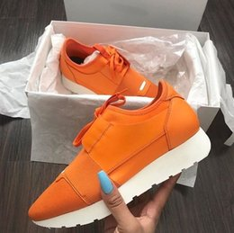 Wholesale Gold Toe Brands - 2017 Wholesale Men Women Designer Luxury Brand Sports Shoes Running Sneakers Trainers Casual Shoes Unisex Breathable Mesh Shoes Size 35-46