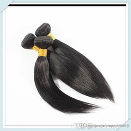 Wholesale Cheapest Straight Weave - Hair Muse cheap human pcs lot brazillian straight extension 00g bundles Natural Black Very Cheapest Free DHL for piece
