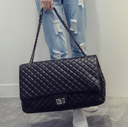 Wholesale Plain Phone Covers - Wholesale-Sac A Main Femme De Marque New Quilted Stella Women Big Bag Chain Lock Handbag Quality Leather Shoulder Crossbody Large Capacity