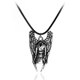 Wholesale European Super Fashion Necklace - Hot Sellers New Fashion Jewelry Evil Power Super Nature Wings Angel Statement Necklaces European And American Movie Pendant Necklace CSH-654