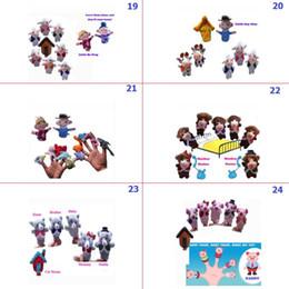 Wholesale Nursery Rhyme Plush Toys - Retail Animal Finger Puppets plush Cloth Doll Baby Educational Hand Toy Kids World Nursery Rhyme