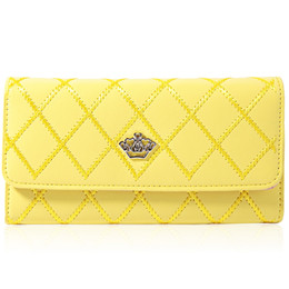 Wholesale Crown Embellishments Wholesale - Women Wallet Clutch Wallet Female Case Phone Femininas Money Bag Purse Card Holder Vintage Crown Embellishment Plaid Wallet