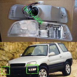 Wholesale Rav4 Front - 2X lot For 1998-1999 Toyota RAV4 Car Auto Front Bumper Fog Driving Lights Housing COVER Lamp Housing