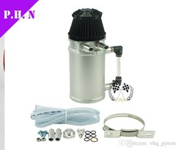 Wholesale Breather Catch Tank - Free shipping Oil Reservior Catch Tank with Breather Filter Baffled 12mm 0.5L universal in stock ready to ship