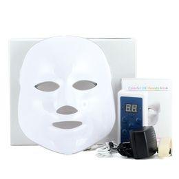 Wholesale Photon Led Pdt - 3 7 Colors Light Photon Electric LED Facial Mask Skin PDT Skin Rejuvenation Anti Acne Wrinkle Removal Therapy Beauty Salon