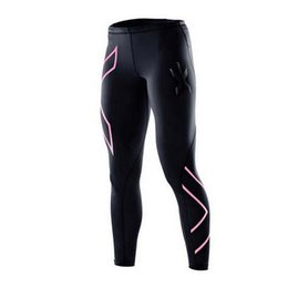 Wholesale Tight Fitting Leggings - Wholesale- New multiple Colour Women Compression Pants Gym Women Fitness Running Sports Leggings Sport Tights Dry Fit Training Running Gym