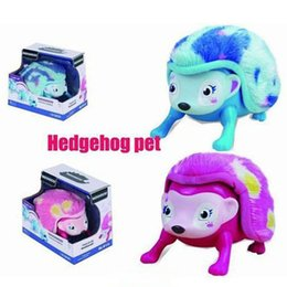 Wholesale Wholesale Electronics Sensor - Interactive Pet Hedgehog with Lights Sounds Sensors Light-up Eyes Wiggy Nose Walk Roll Headstand Curl up Giggle Toys for Kids C2363