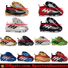 Wholesale High Tops For Men Cheap - 2017 Soccer Boots ACE 17+ 16+ Purecontrol FG Mens Soccer Cleats Pure Control High Tops Football Boots Cheap New Soccer Shoes For Men