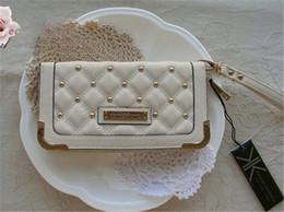 Wholesale Korean Handbag Wholesalers - Hot Selling Kardashian kollection long design lady handbag rivet plaid wallet kk women's wallets clutch bag