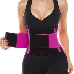 Wholesale Belt Wraps - Women's Waist Trainer Belt Waist Trimmer Corset Weight Loss Ab Belt Stomach Shape Trainer Sports Cincher Wrap Workout Cincher Corset