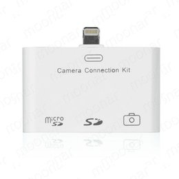 Wholesale Mini Micro Usb Camera - Wholesale 3 In 1 Camera Connection Kit Micro SD Card Reader USB Adapter For iPad Mini iPad 4 (Support PC Keyboard,SD Card,Micro SD)