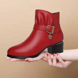 Wholesale Moolecole Shoes - Free Shipping 2017 New style Autumn women fashion casual Ankle Boots leather brand design moolecole boots top quality shoes in Size 35 - 40