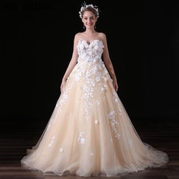 Wholesale Images Decoration Wedding - New Design Ball Gown Wedding Dress 2017 Bridal Gown Sweetheart Lace Decoration Gorgeous Fashion Bridal Wedding Dresses A032