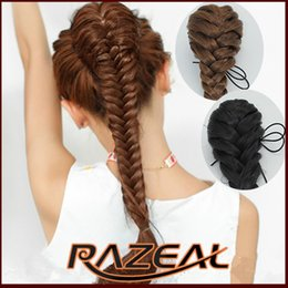 """Wholesale Braided Ponytail Extensions - Wholesale-Claw Drawstring Braided Hair 20"""" Long Synthetic Paited Ponytails,False Hair Extensions 6 Color Available"""