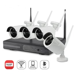Wholesale Hdd Surveillance Security System - YSCAM 4CH 1080P HDMI NVR 4PCS 960P IR Outdoor Weatherproof P2P CCTV Wireless IP Camera Security System Surveillance Kit without HDD