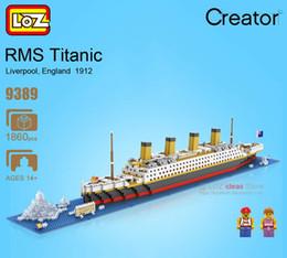 Wholesale Ship Boat Model - LOZ Building Blocks Toys RMS Titanic Ship 3D Building Blocks Toy Titanic Boat 3D Model Educational Gift Toy for Children 9389