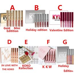 Wholesale Light Edition - Kylie Jenner Lip Gloss Cosmetics KKW Birthday Valentine Holiday IN LOVE WITH THE KOKO KOLLECTION Limited Edition 4 6 set