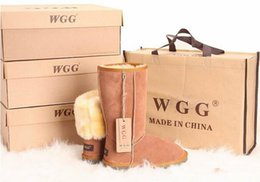 Wholesale High Heel Tall Fashion Boots - FREE SHIPPING High Quality 2017 Classic Tall WGG Brand Women popular Australia Genuine Leather Boots Fashion Women's Snow Boots US5--US10