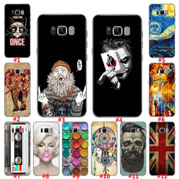 Wholesale Carton Design - New Design Colorful Carton Painting TPU Silicone Gel Soft Case Cover For Samsung Galaxy S8 S7 Edge S6 Edge