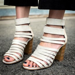 Wholesale Caged Heels - Stiletto Heels Soft Leather Pumps Ferret Daily Mori Girl Cozy Buckle Fish Mouth Zip Shoes Women Italian Lambskin Caged