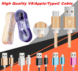 Wholesale Head Phone Plugs - 1.5M Long Strong Braided USB Charging Cable For Smart Phones Samsung HTC Sony LG Micro USB Wire With Metal Head Plug High Quality