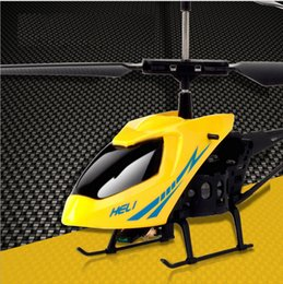 Wholesale Radio Control Aircraft - New Version Mini RC Helicopter 3.7V Radio Remote Control Aircraft 3D 2.5 Channel Drone Copter With Gyro and Lights