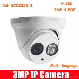 Wholesale Mini Ir Dome Camera - DS-2CD2335-I Replace DS-2CD2332-I H.265 POE IR IP67 EXIR Turret Mini Dome Camera With 4mm Lens Hikvision 3MP Megapixel Network IP Camera