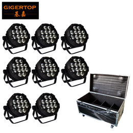 Wholesale Metal Outdoor Lights - Outdoor Wash Light LED Par Light 12x18W RGBWAUV WATERPROOF IP65 METAL HOUSING for Party Church Wedding Gardern+8in1 Road Case TP-P102