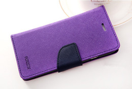 Wholesale Iphone 4s Fancy Case Leather - wallet for iphone 4 4s 5 5s 5s 6 6s 6 plus 7 7 plus galaxy s4 s5 s6 s6 edge s7 Mercury Fancy Diary Wallet Stand Leather Case COVER fu