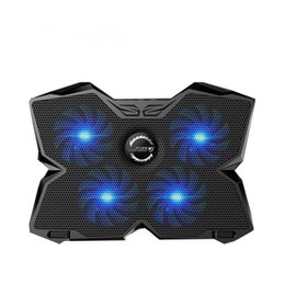 """Wholesale Cooler Pad Led - CoolCold Ice Magic 2 Cooler with 4 Silence Fans LED USB 2.0 Laptop Cooling Pad 12""""13""""14""""15""""17""""Laptop Holder"""