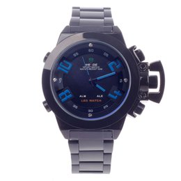 Wholesale Cool Dive Watches - WH - 1008 water resistant personal new cool gentleman LED quartz + digital double-time display diving men's sports watch