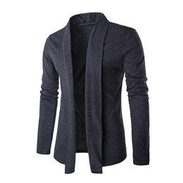 Wholesale Men S V Neck Cardigan - Wholesale- 2016 New Autumn Winter Stylish Fashion Men Luxurious Slim Knitted Cardigan Male Jacket Slim Long Sleeve Casual Outwear Nov25