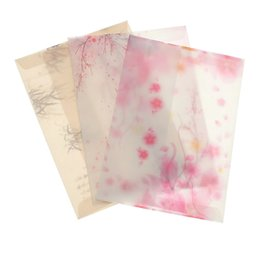 Wholesale Cherry Blossom Papers - Wholesale-5Pcs lot Pink Japan Cherry Sakura Blossom Painting Design Artificial Parchment Paper Envelope School Office Supplies Gifts