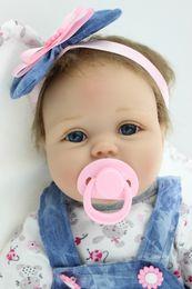 Wholesale Toy Baby Doll Lifelike - Reborn Dolls NPK Handmade Lifelike Newborn Baby Doll ( Silicone Full Body, Waterproof), 22inch 55cm Weighted Baby Girl Simulation Toys D32