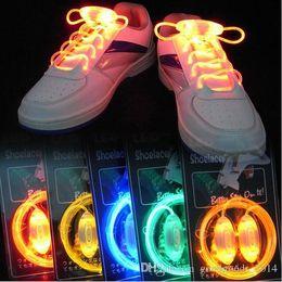 Wholesale Wholesale Hair Sticks Round - Colorful LED Flash Light Up Shoe Laces Party Disco Shoes Strap Glow Stick Shoelaces Boys Girls Multicolor Shoe Strings b497
